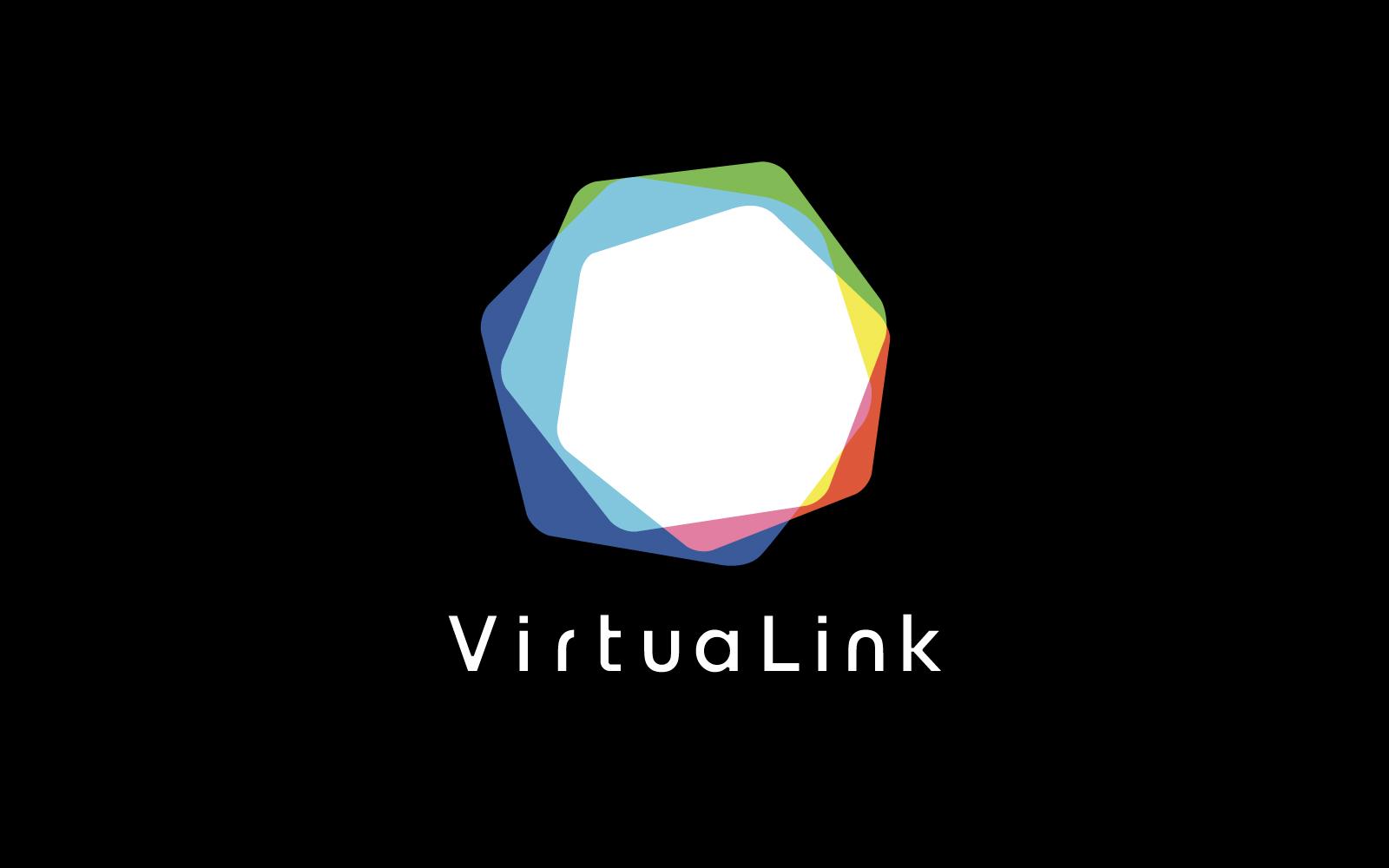 「集団体験型VRサービス VirtuaLink」ロゴ開発